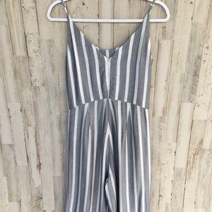 Pants & Jumpsuits - Belle Vera stripe cropped romper size 4